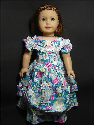 Handmade Doll Clothes for 18'' American Girl Dolls Colonial Party Dress AG055