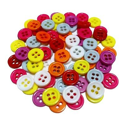 150 Mixed Wood Flower Buttons - Craft - Scrapbook - Sew - Cards - Embellishments
