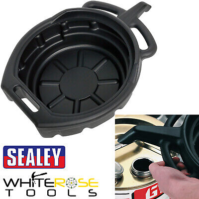 Sealey 7.6 Litre Oil Fluid Drain Pan with Spout & Handles Drip Tray Transfer