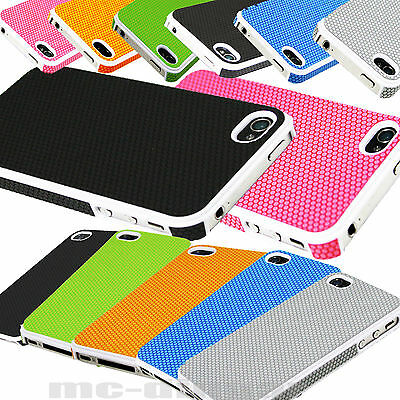 Shockproof Dirt proof Hybrid Hard PU Leather Case Cover for iPhone 4 4S + Film