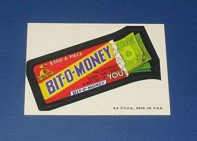 73-75 WACKY PACKAGES SERIES 6 TB BIT-O-MONEY NM+/NM