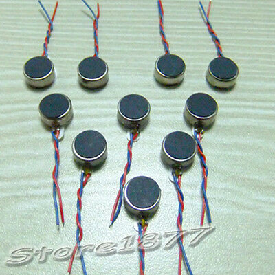 10pcs Pager and Cell Phone Coin Flat Vibrating Micro Motor With Two Leads s884