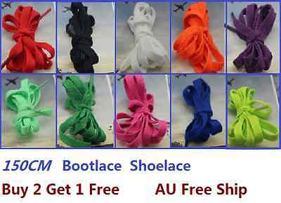 Buy 2 Get 1 Free 150cm Long Flat Shoelaces Bootlaces Candy Color Shoe Lace