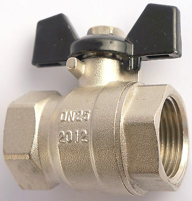 T Handle Full Flow Ball Valve Butterfly Various Sizes High Quality
