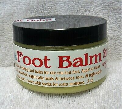 Hand Crafted Soothing Peppermint Foot Balm, Cocoa & Shea, Coconut & Almond Oil
