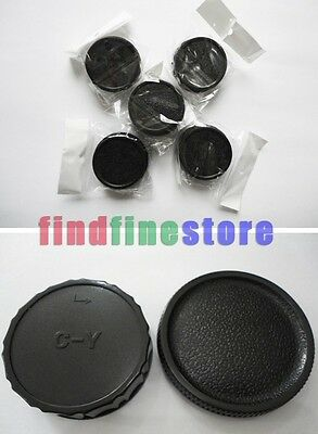 5x Rear lens and Body cap cover for Contax Yashica CY C/Y Wholesale lots 5 pcs