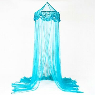 *Round Hoop* with Sequins Bed Canopy Mosquito Net for All size Bed more color