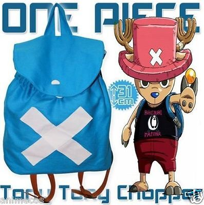 Anime One Piece Tony Chopper Backpack School Shoulder Student Bag Cosplay