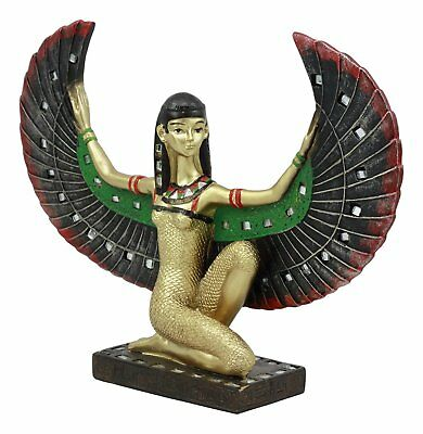 """Ancient Egyptian Legendary Winged Goddess Isis Statue Magic Nature Statue 7""""H"""