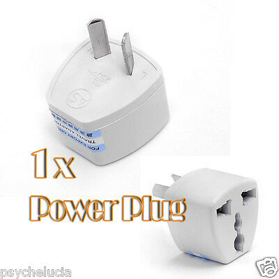 1x Universal Travel Power Plug Adapter USA EU EURO Asia to AU AUSTRALIAN 2 Pin