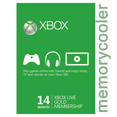 Xbox One 360 12+ 2 Month 14 Months Live Gold Membership Code - FAST DISPATCH