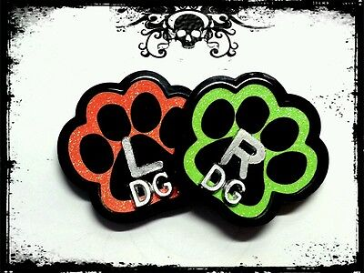 PAWZ XRay marker set 2 initials PAW SHAPED CUSTOM LEAD MARKERS