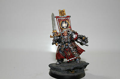 Warhammer 40k Space Marine Grey Knights Captain Stern brother. Metal OOP PAINTED