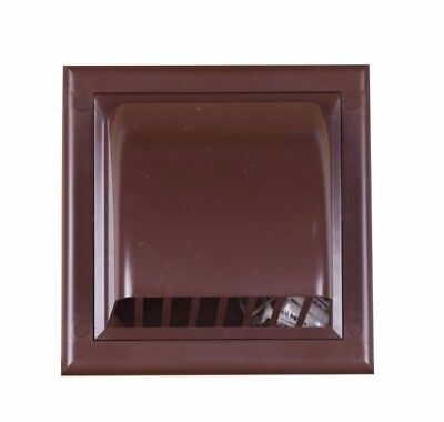 """Brown Gravity Flap 100mm / 4"""" External Ducting Ventilation Cover Air Vent Grille"""