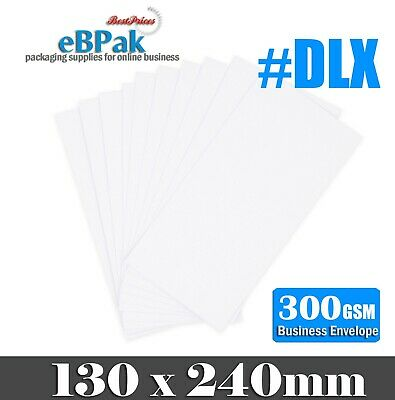 200x Card Mailer #DLX 130x240mm DLX 300gsm Envelope - Tough Bag Replacement