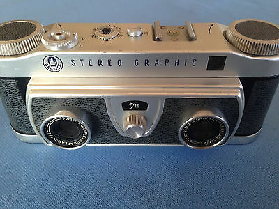 Graflex Stereo Graphic 35mm 3D Slide Camera  f4 Graflar lens stereographic