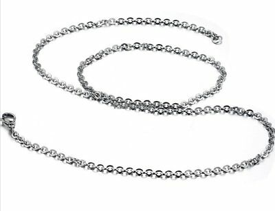 Fashion Charming Silver Stainless Steel Long Chain Link Men's Women's Necklace