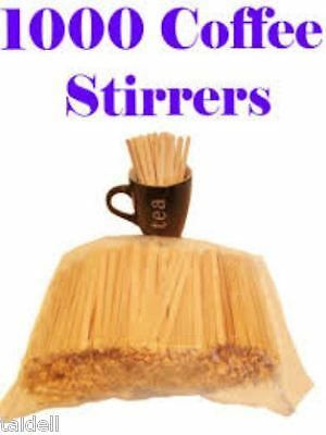 Wooden Stirrers 1000 - Food Grade & Free Post