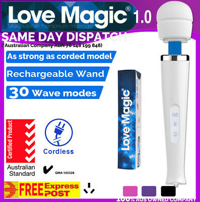 30 Modes CORDLESS CTICK Magic Wand 1.0 Body Personal Massager Vibrator HITACHI