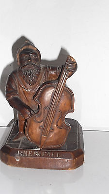 small statue dwarf wood rheinfall 19th century. Signed