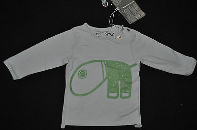 NEW with tags - Eeni Enfant long-sleeved tee. Cloud Blue. Sz 00. RRP $47!