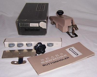Vintage Sears Kenmore Buttonholer Attachment Kit #20-60706 Sewing Collectible!