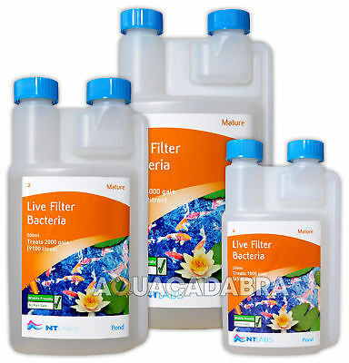 Nt Labs Mature Fish Pond Live Filter Start Bacteria Boost Sludge Remover