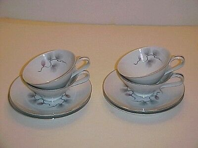 Narumi Fine China of Japan Pinecrest Cup and Saucer Sets