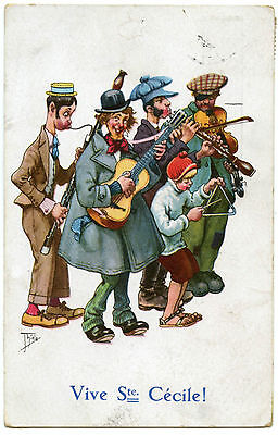 Illustrateur  Thiele.musiciens De Rue.musicians In The Street