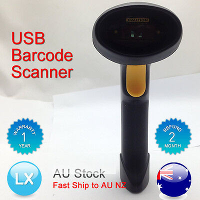 USB Hand Held Handheld Visible Laser Scan Barcode Bar Code Scanner Scan Reader A