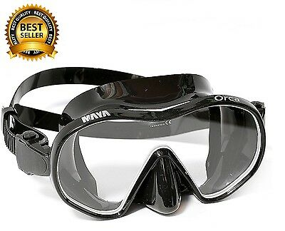 Adventure At Nature Orca Black Frameless Mask Scuba Free Diving Snorkeling