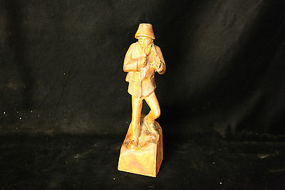 Circa 1840's Antique Hand Carved Wooden Lumberjack