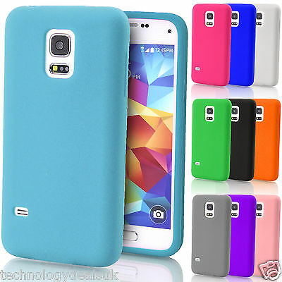 Soft Plain Silicone Case Gel Rubber Skin Cover for Samsung Galaxy S5 G900 i9600