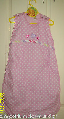 Baby Girl Target Sleeping Bag Suit Pink White pyjama blanket sleepsuit 0 - 6 New