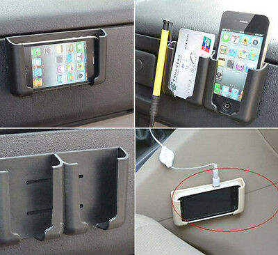Universal Car Adhesive Mount Holder For GPS Cell Phone MP4 Business Card Black
