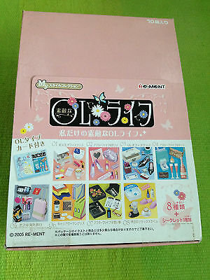 Doll Re-ment -  Office Lady OL stationery, beauty & accessories x 8