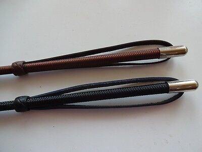 BLACK or BROWN Horse Riding Whip / Crop / Wrist strap - English Made-FREE POST