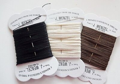 Wenzel Strong Plaiting Thread & Needle Horse / Pony Black Brown White FREE POST