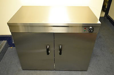 ACE NEW LARGE HOT CUPBOARD for plates or food etc 4 Shelves, feet or wheels
