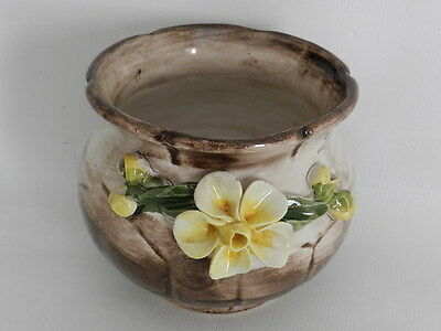 Vintage Capodimonte Planter Round Small Nearly Perfect Condition