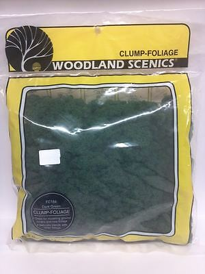 Woodland Scenics Clump Foliage Dark Green Bag 173 sq inch Model Railroad FC 184