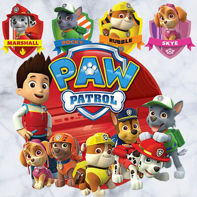 17 Pcs Paw Patrol Wall Stickers Removable Kids Nursery Boys Decor Vinyl Decal