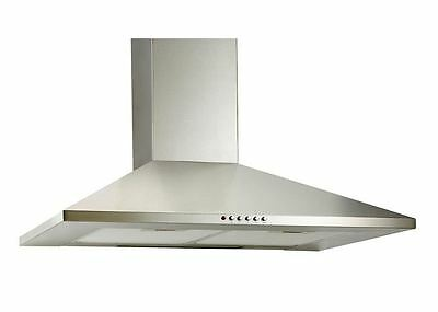600mm Stainless Steel Chimney Hood Designer Extractor Fan-Free Postage