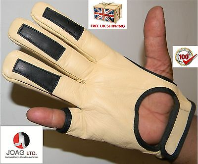 FULL SHOOT ARCHERS  GLOVE- Full Shoot Glove- Real Cow hide leather