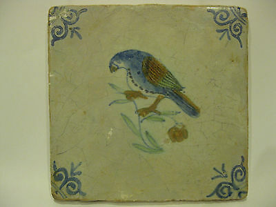 Antique Dutch Polychrome Tile Tiles 17th century -- free shipping