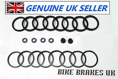 Suzuki GSF1200 Bandit 1996-2000  front Nissin 4 pot brake caliper seal kit