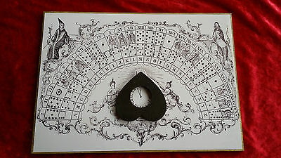 Wooden Casting Ouija Board & Large Planchette spirit ghost hunt seance magic