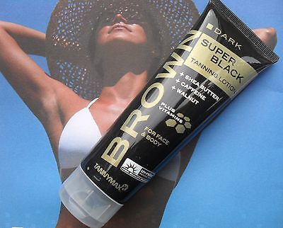 Tannymaxx Super Black Dark Sunbed Tanning Lotion Cream Free Goggles
