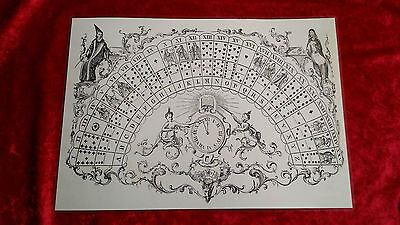 Victorian Magic Casting Ouija Board laminated sheet fortune telling oracle Ghost