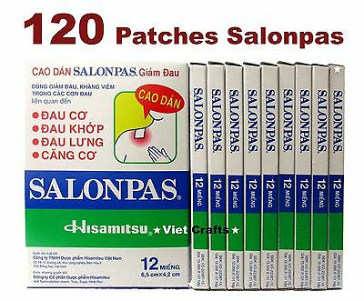 Lot 10x12 = 120 Patches Hisamitsu SALONPAS - Muscle Pain Relieving - BEST PRICE